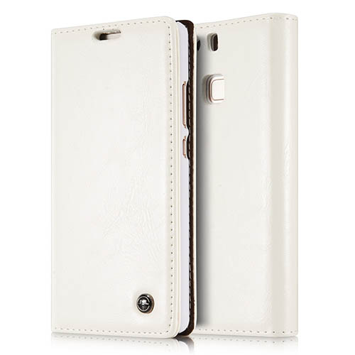 CaseMe 003 HuaWei P9 Magnetic Flip Leather Wallet Case White