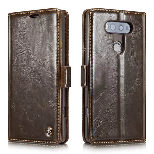 CaseMe 003 LG G20 Magnetic Flip Leather Wallet Case Brown