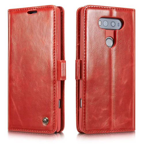 CaseMe 003 LG G20 Magnetic Flip Leather Wallet Case Red