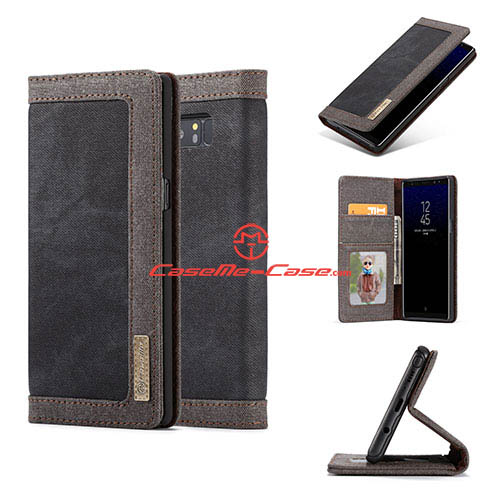 CaseMe Samsung Galaxy Note 8 Jeans Magnetic Wallet Case Black