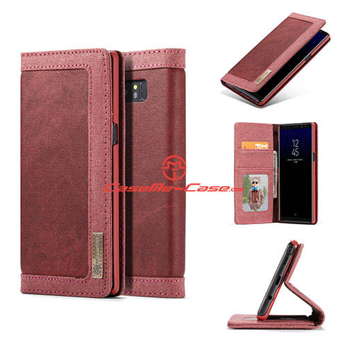 CaseMe Samsung Galaxy Note 8 Jeans Magnetic Wallet Case Red