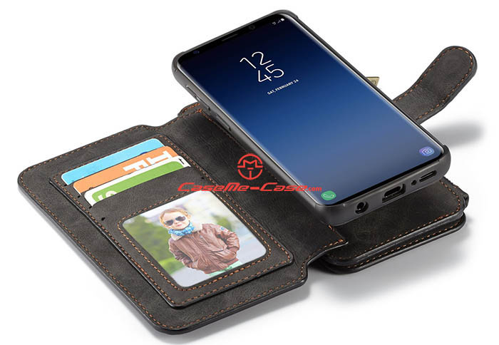 CaseMe Samsung Galaxy S9 Zipper Wallet Detachable Flip Case
