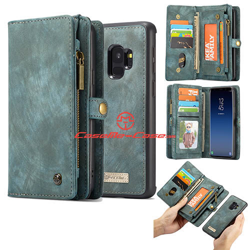 CaseMe Samsung Galaxy S9 Detachable Zipper Wallet Case Green