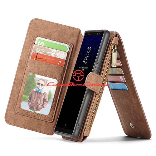 CaseMe Samsung Galaxy Note 8 Multifunctional Wallet Case Brown