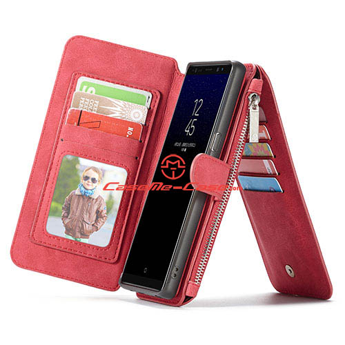 CaseMe Samsung Galaxy Note 8 Multifunctional Wallet Case Red