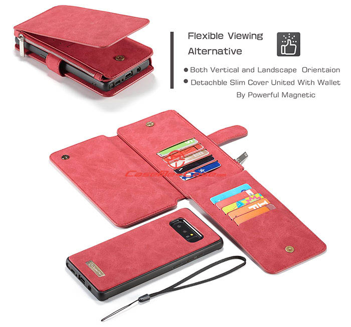 9a4ca724797 Caseme Samsung Galaxy Note 8 Multifunctional Wallet Case Red