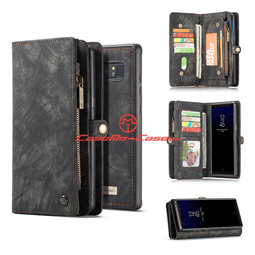 CaseMe Samsung Galaxy Note 8 Wallet Detachable Case Black