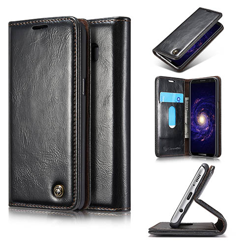 CaseMe Samsung Galaxy S8 Magnetic Flip PU Leather Wallet Case Black