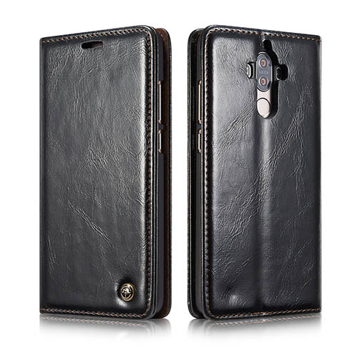 CaseMe Huawei Mate 9 Magnetic Flip PU Leather Wallet Case Black