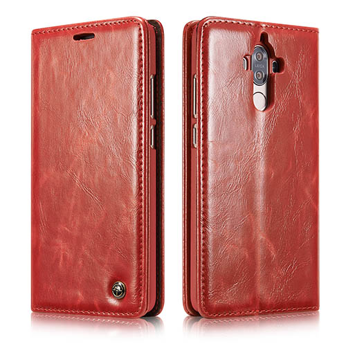 CaseMe Huawei Mate 9 Magnetic Flip PU Leather Wallet Case Red