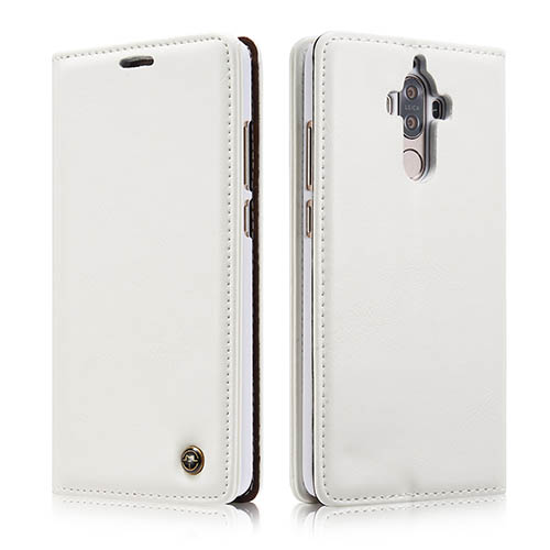 CaseMe Huawei Mate 9 Magnetic Flip PU Leather Wallet Case White