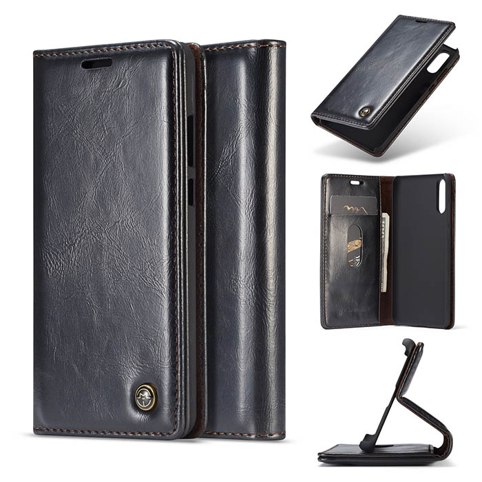 CaseMe Huawei P20 Wallet Magnetic Flip Case Black