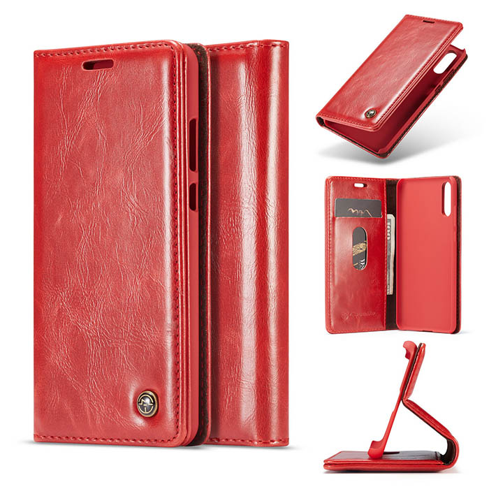 CaseMe Huawei P20 Wallet Magnetic Flip Case Red