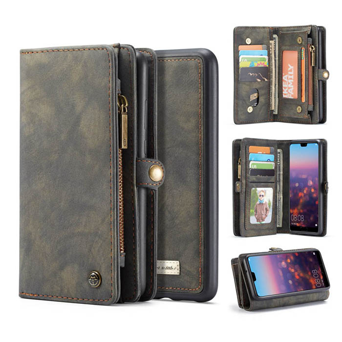 CaseMe Huawei P20 Pro Detachable Wallet Magnetic Case Black