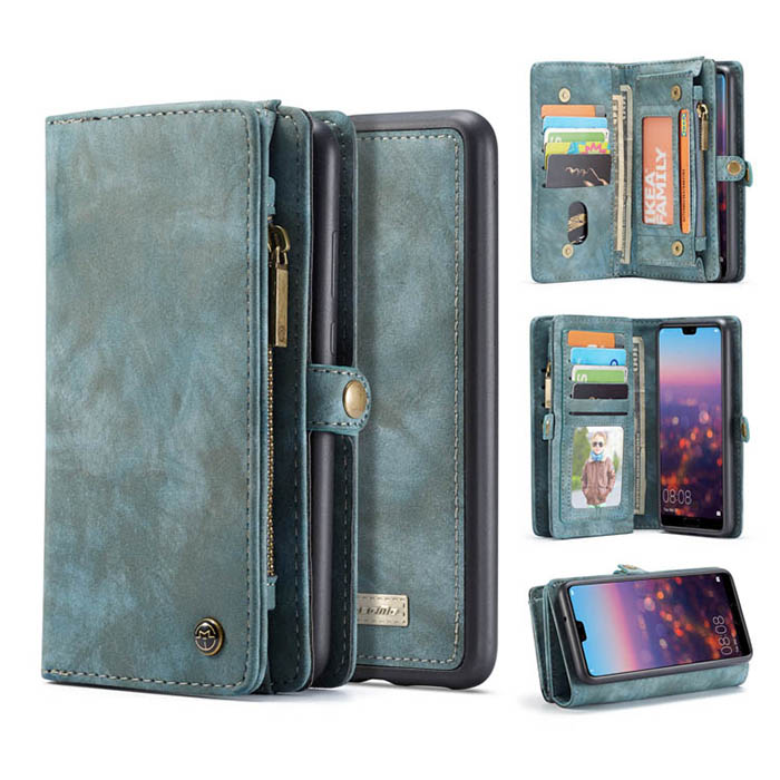 CaseMe Huawei P20 Pro Detachable Wallet Magnetic Case Blue
