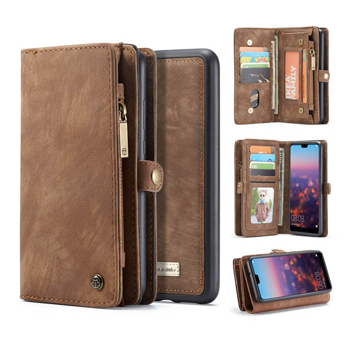 CaseMe Huawei P20 Pro Detachable Wallet Magnetic Case Coffee