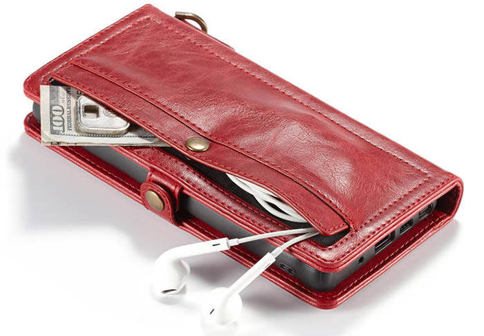 CaseMe Samsung Galaxy Note 20 Ultra Wallet Case With Wrist Strap Red
