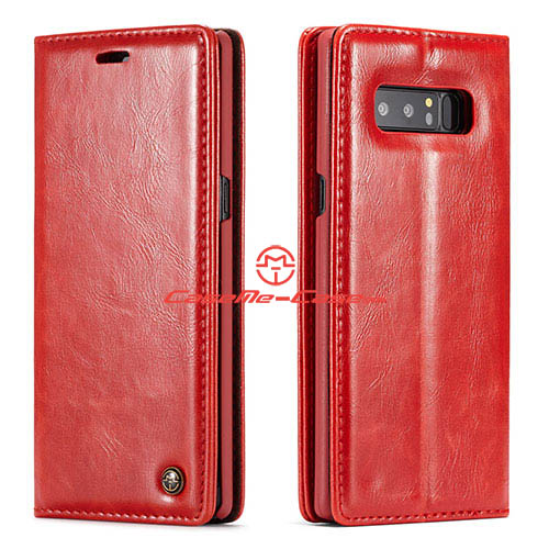 CaseMe Samsung Galaxy Note 8 Wallet Magnetic Stand Case Red