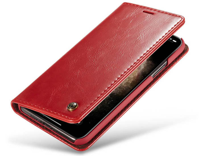CaseMe iPhone 11 Pro Max Wallet Magnetic Flip Stand Leather Case